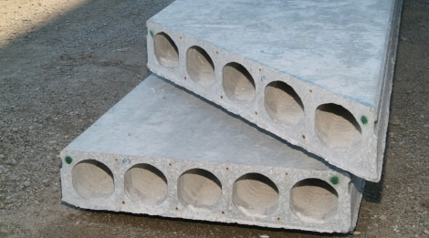 Two Concrete Hollow-core Slabs