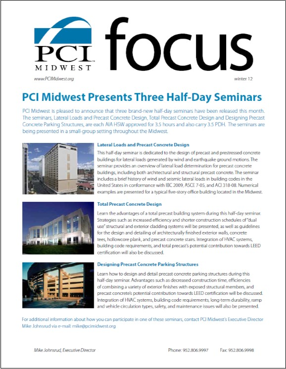 2012 Winter PCI Midwest Focus Newsletter