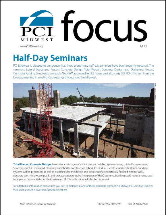 2013 Fall PCI Midwest Focus Newsletter