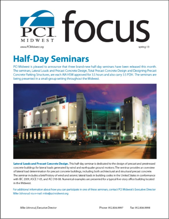 2013 Spring PCI Midwest Focus Newsletter