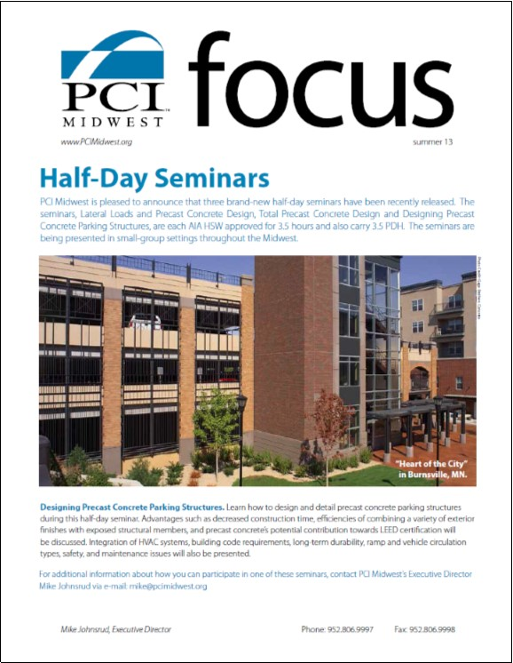 2013 Summer PCI Midwest Focus Newsletter
