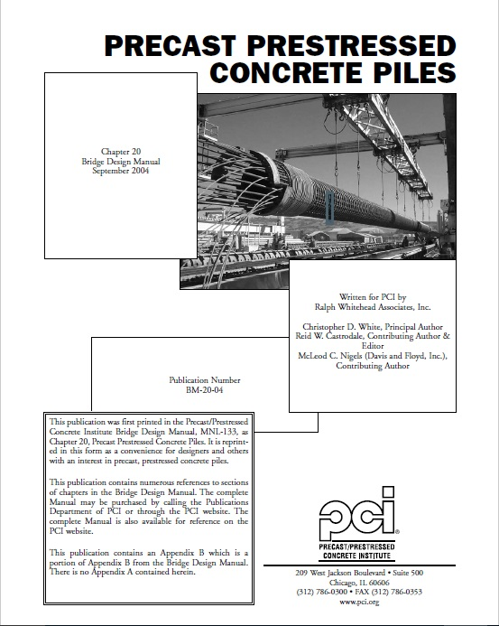 BM20 - Prestressed Concrete Piles - Chapter 20 FREE PDF