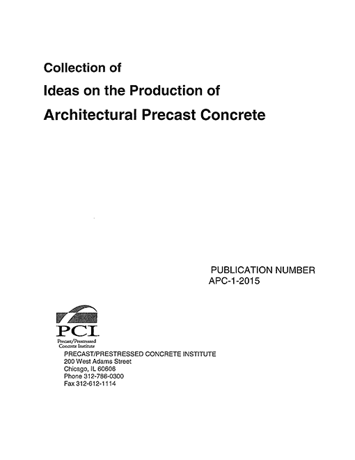 Ideas on the Production of Architectural Precast Concrete