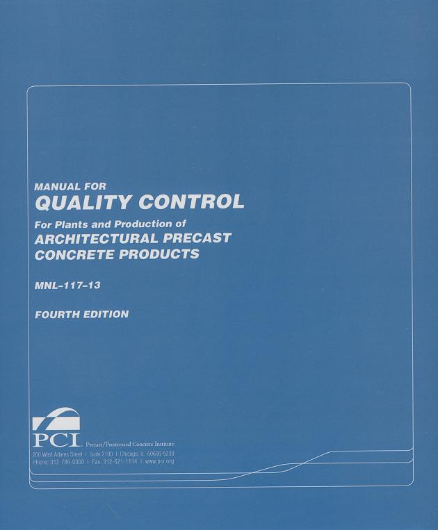 MNL117 - Quality Control of Architectural Precast Products