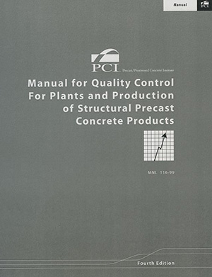 MNL116 - Quality Control For Structural Precast Products