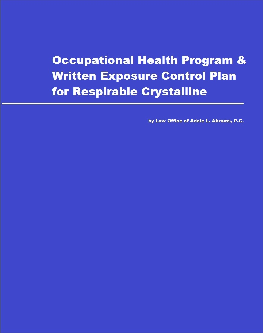 Exposure Control Plan for Respirable Crystalline Silica