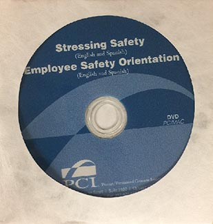 Safety DVD - Stressing & Employee Orientation Eng & Spanish